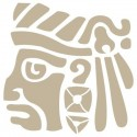 Stencil Aerografia Cultura Maya 003 Dios