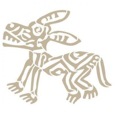 Stencil Aerografia Cultura Maya 004 Burro