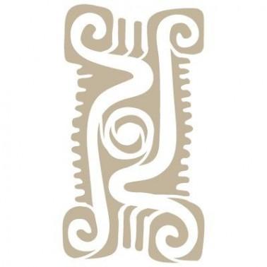 Stencil Aerografia Cultura Maya 009 Simbolo