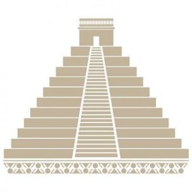 Stencil Aerografia Cultura Maya 012 Pirámide