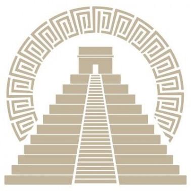 Stencil Aerografia Cultura Maya 013 Pirámide