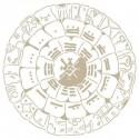 Stencil Aerografia Cultura Maya 014 Calendario