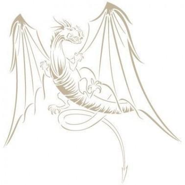Stencil Aerografia Dragon 002 Alado