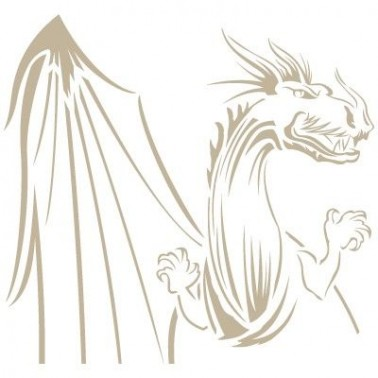 Stencil Aerografia Dragon 003 Busto
