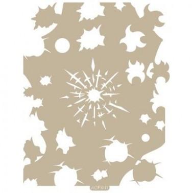 Stencil Aerografia Efectos 001 Balazos