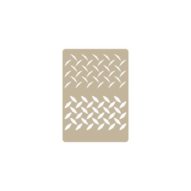 Stencil Aerografia Efectos 003 Panel Diamantes