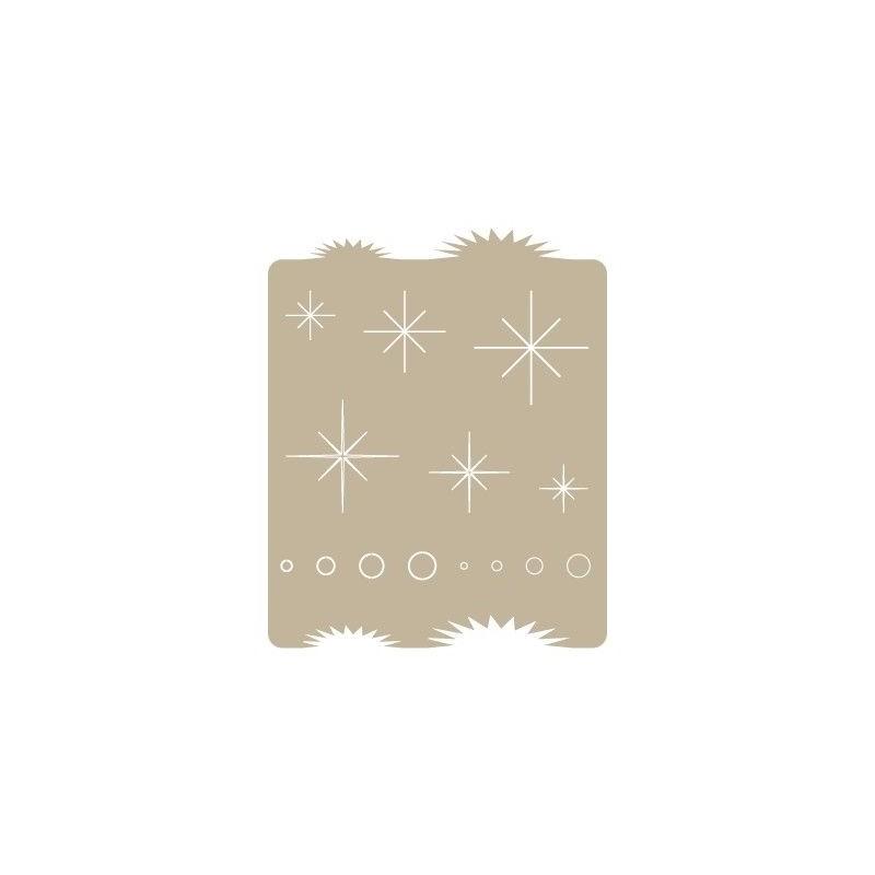 Stencil Aerografia Efectos 008 Destellos