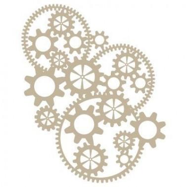 Stencil Aerografia Efectos 009 Engranaje Complejo