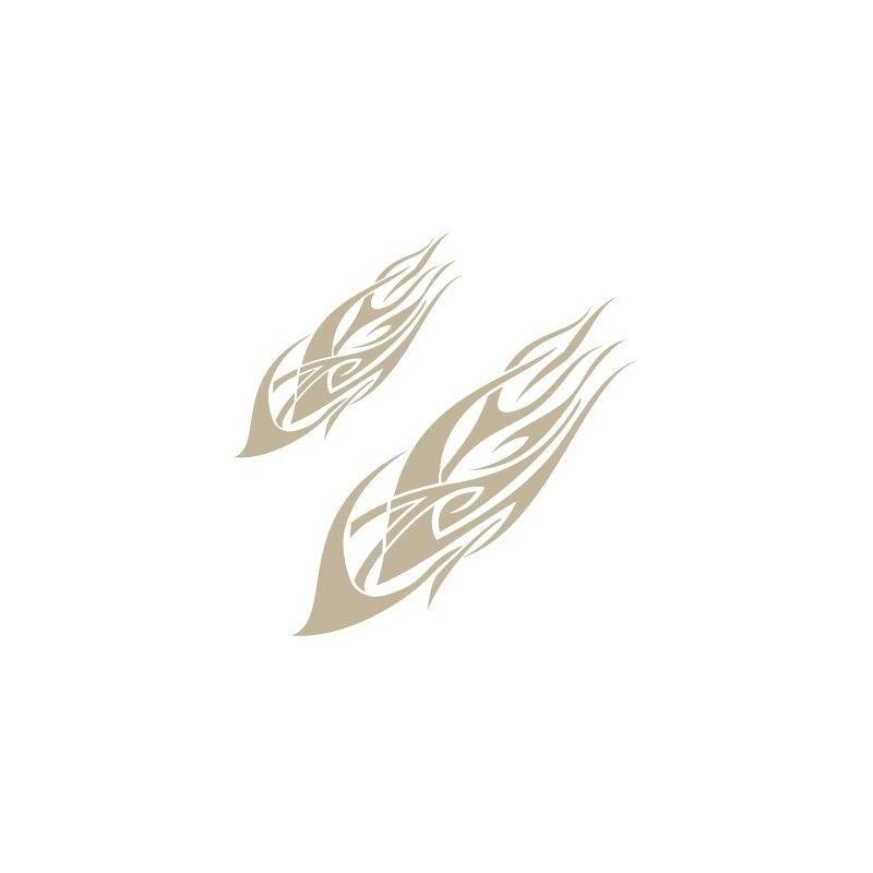 Stencil Aerografia Flame Fuego 002