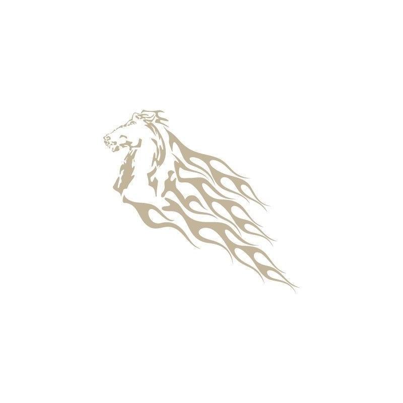 Stencil Aerografia Flame Fuego 008 Caballo Llamas
