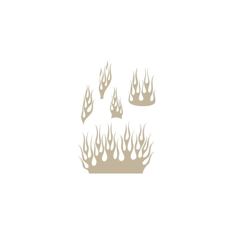 Stencil Aerografia Flame Fuego 012 Cinco Llamas
