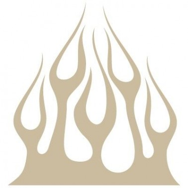 Stencil Aerografia Flame Fuego 019