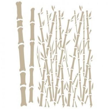 Stencil Aerografia Fondo 012 Bambu