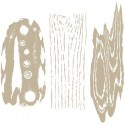 Stencil Aerografia Textura 013 Madera Kit 3