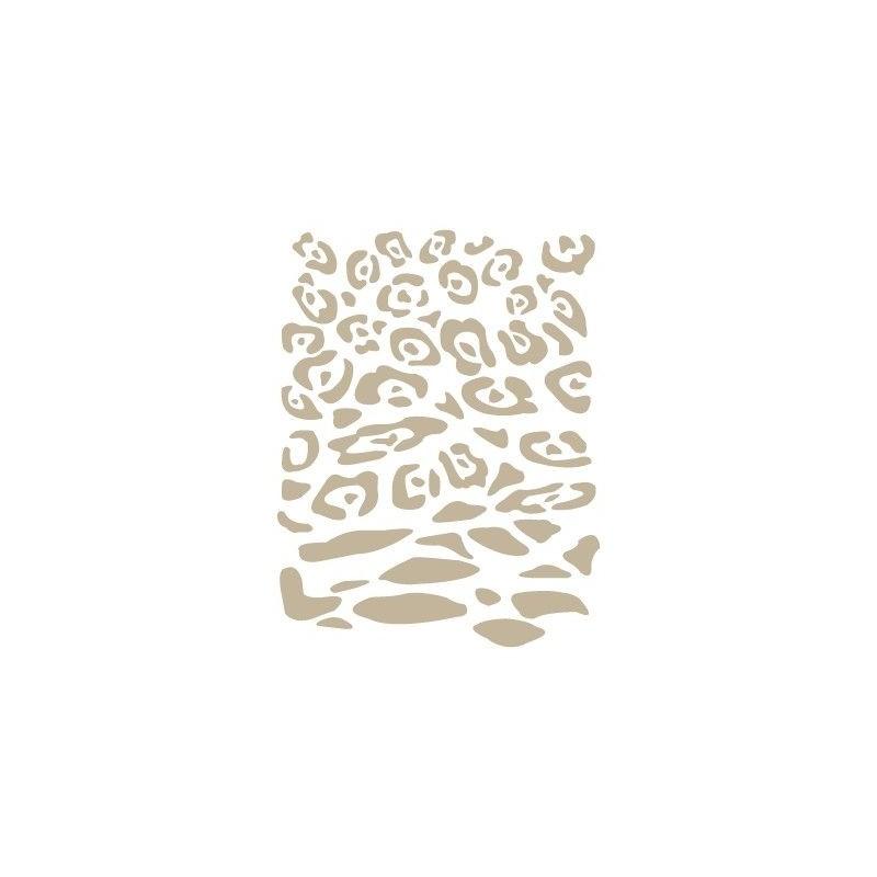 Stencil Aerografia Textura 024 Leopardo