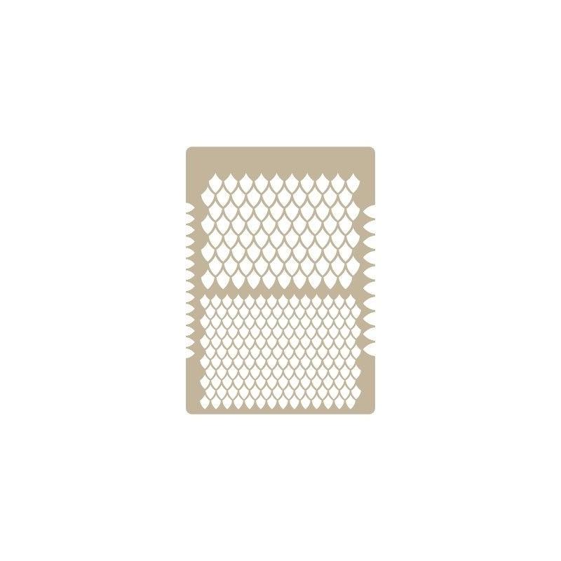 Stencil Aerografia Textura 025 Escamas