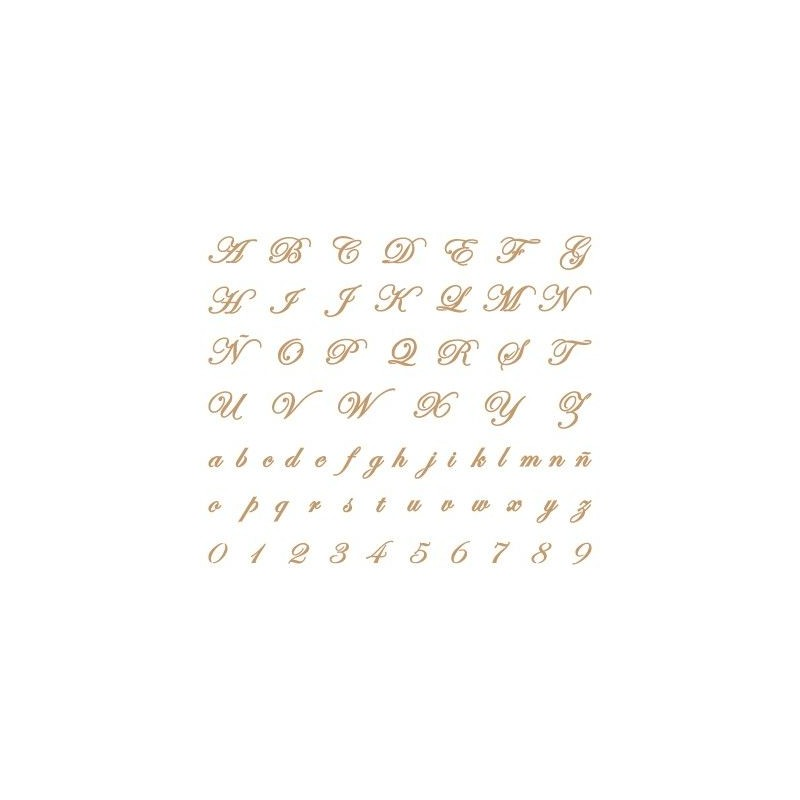 Stencil Deco Abecedario 005
