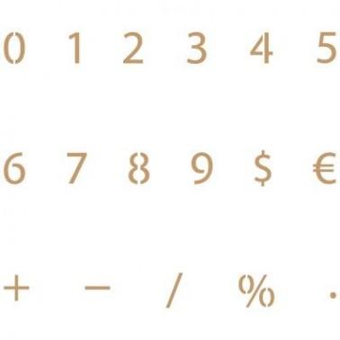 Stencil Deco Abecedario Numeros 002