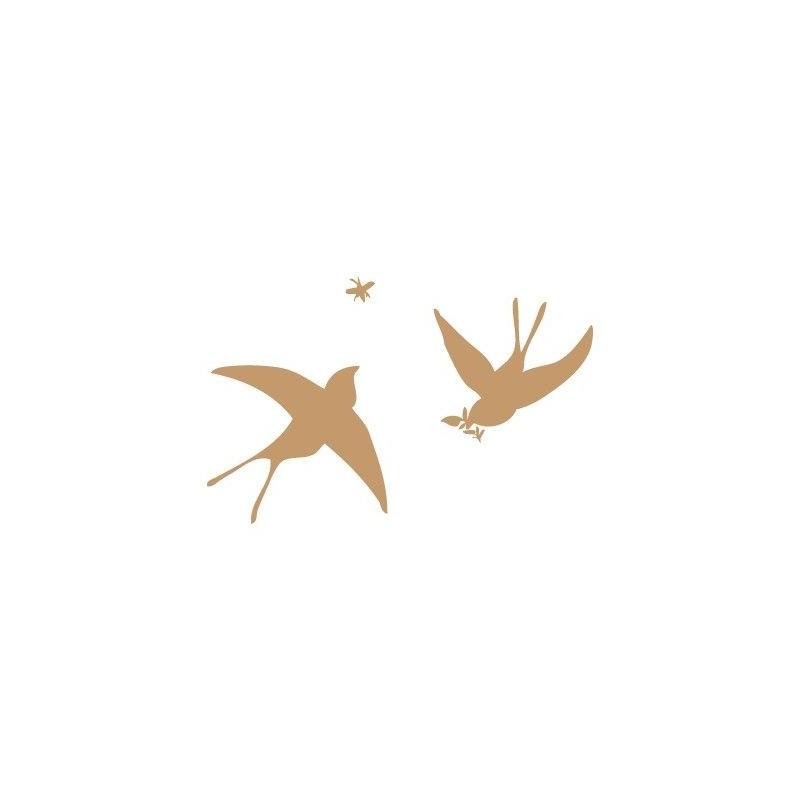 Stencil Deco Animales 003 Golondrinas