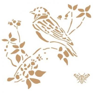 Stencil Deco Animales 006 Pájaro