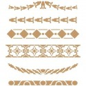 Stencil Deco Cenefa 036 Seis modelos