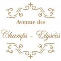 Stencil Deco Vintage Composición 004 Avenue Des Champs