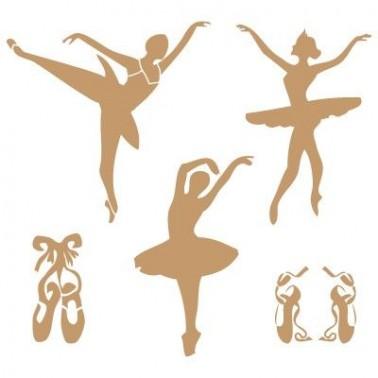 Stencil Deco Vintage Composición 005 Bailarinas
