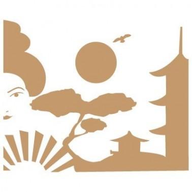 Stencil Deco Vintage Composición 006 Geisha