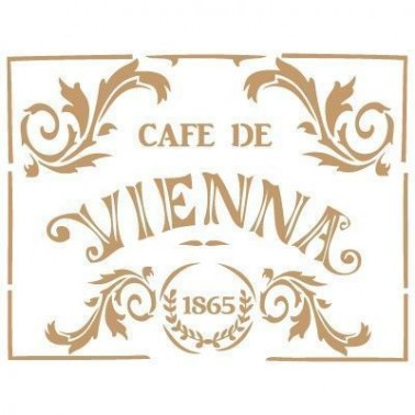 Stencil Deco Vintage Composición 010 Cafe Vienna