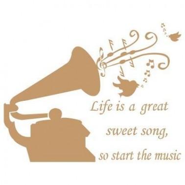 Stencil Deco Vintage Composición 017 Gramofono