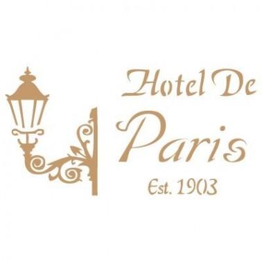 Stencil Deco Vintage Composición 027 Hotel Paris