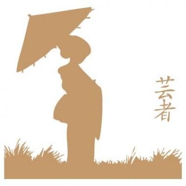 Stencil Deco Vintage Composición 028 Geisha