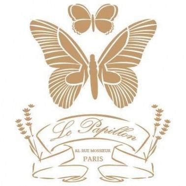 Stencil Deco Vintage Composición 039 Papillon