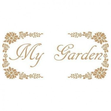 Stencil Deco Vintage Composición 044 My Garden