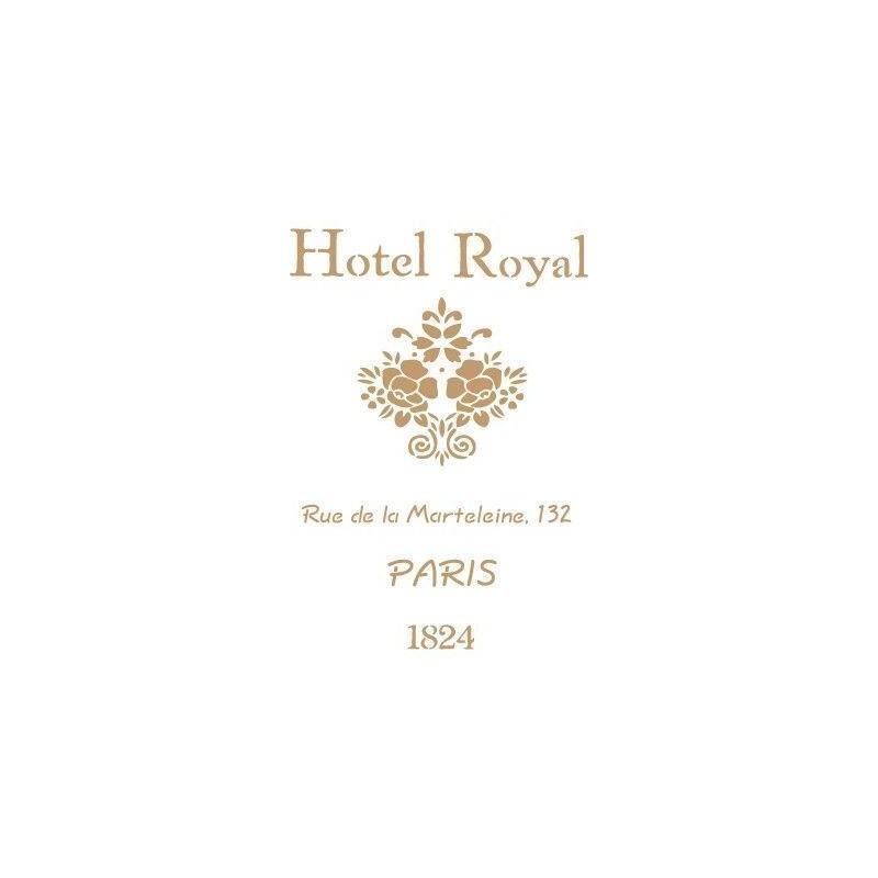 Stencil Deco Vintage Composición 048 Hotel Royal