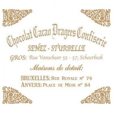 Stencil Deco Vintage Composición 050 Chocolat Cacao