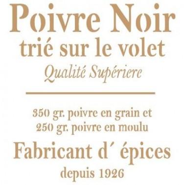 Stencil Deco Vintage Composición 052 Poivre Noir