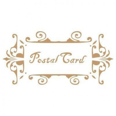 Stencil Deco Vintage Composición 053 Postal Card