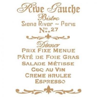 Stencil Deco Vintage Composición 064 Rive Gauche