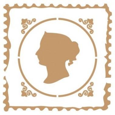 Stencil Deco Vintage Composición 071 Sello Mujer