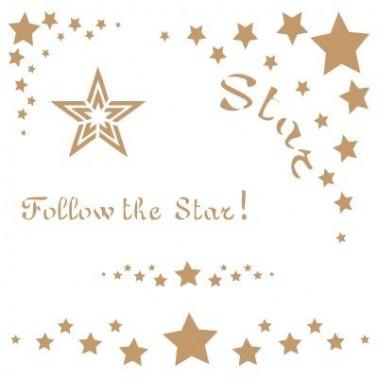 Stencil Deco Vintage Composición 073 Star