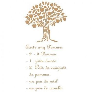 Stencil Deco Vintage Composición 074 Tarte Any Pomes