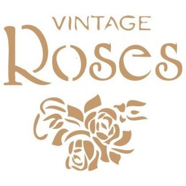 Stencil Deco Vintage Composición 075 Roses