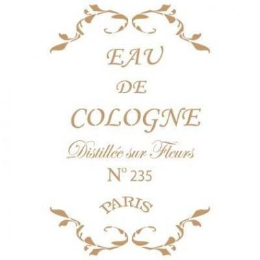 Stencil Deco Vintage Composición 076 Eau De Cologne