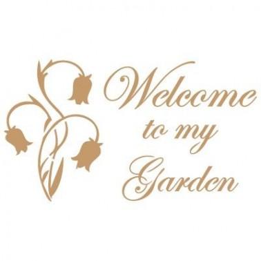 Stencil Deco Vintage Composición 079 Welcome Garden