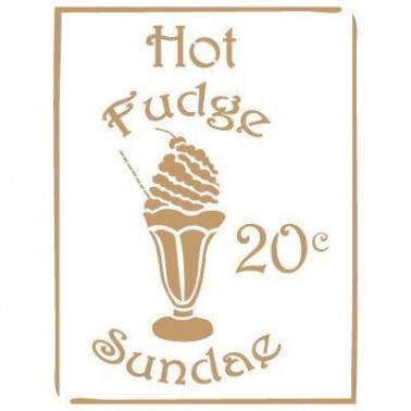 Stencil Deco Vintage Composición 082 Hot Fudge