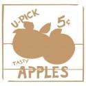 Stencil Deco Vintage Composición 083 Apples