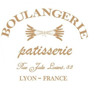 Stencil Deco Vintage Composición 085 Boulangerie