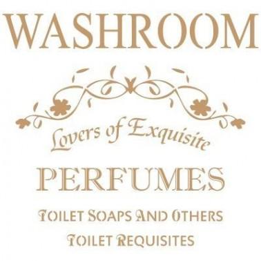 Stencil Deco Vintage Composición 097 Washroom