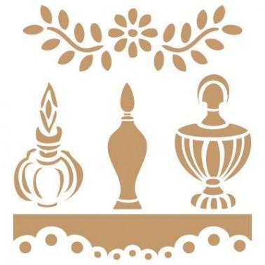 Stencil Deco Vintage Composición 099 Tres Perfumes